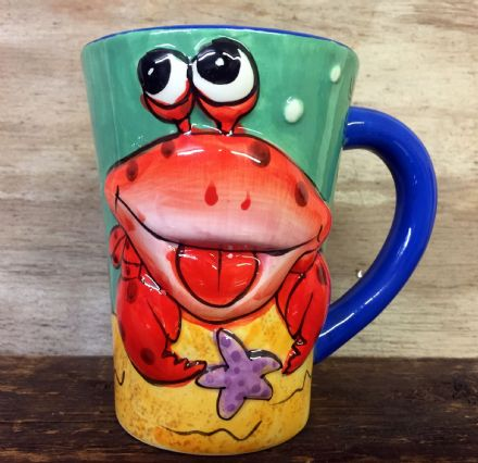 Cute Sea Life Colourful Ceramic Large Mug ~ Crab